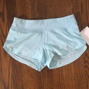 Tiffany Blue Lulu Lemon shorts